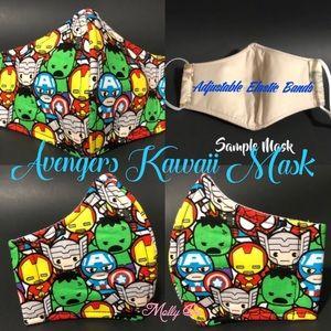 Kids Marvel Avengers Kawaii Face Mask